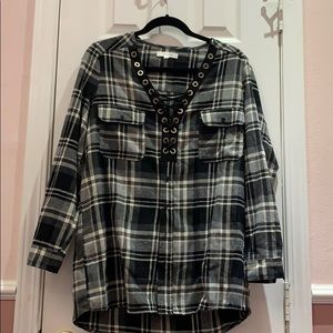 Plaid oversized flannel
